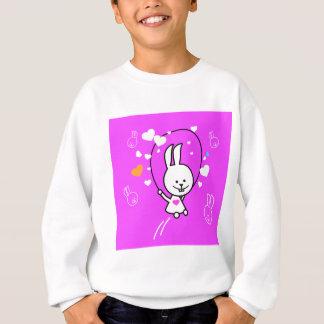 Cuerda de salto del conejo del dibujo animado - remeras