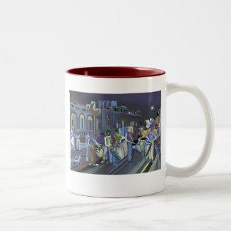 Cuerda de tambores Two-Tone coffee mug