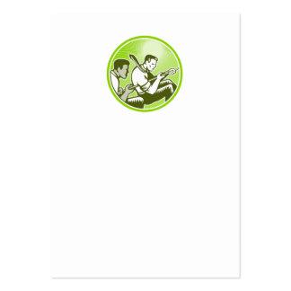 Cuerda de tirón del trabajador del oficial del esf tarjetas de negocios