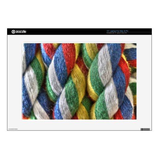 Cuerda del color portátil calcomanías