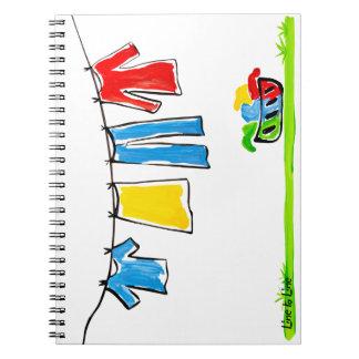 cuerda para tender la ropa cuaderno