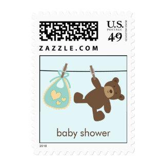 Cuerda para tender la ropa del bebé {verde} sellos