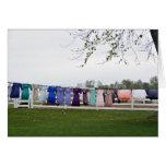 Cuerda para tender la ropa del lavadero de Amish Felicitacion