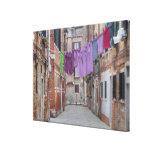 Cuerda para tender la ropa en Venecia Italia Lienzo Envuelto Para Galerias
