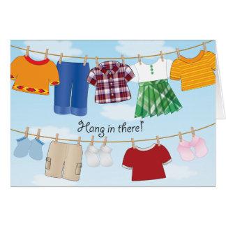 Cuerda para tender la ropa - tarjeta de