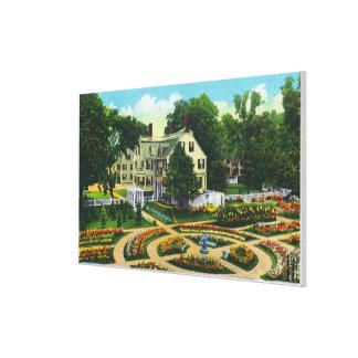 Cuerdas conmemorativas y opinión de jardines botán impresion de lienzo