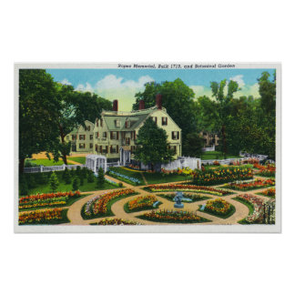 Cuerdas conmemorativas y opinión de jardines botán póster