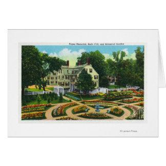 Cuerdas conmemorativas y opinión de jardines botán tarjeta de felicitación
