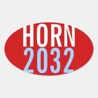 Cuerno 2032 calcomanías óvales personalizadas