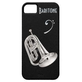 Cuerno de barítono en plata iPhone 5 funda
