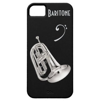 Cuerno de barítono en plata funda para iPhone SE/5/5s