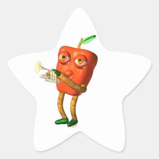 Cuerno de la pimienta por Valxart- Pegatinas Forma De Estrellaes Personalizadas