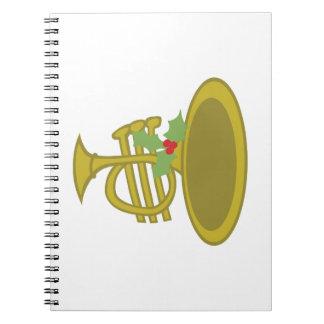 Cuerno de Navidad Spiral Notebook