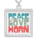 Cuerno del amor de la paz collares