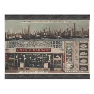Cuerno del autómata y cuadrado Nueva York, Vinta Tarjetas Postales