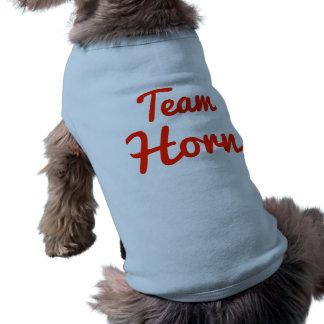 Cuerno del equipo camisas de perritos
