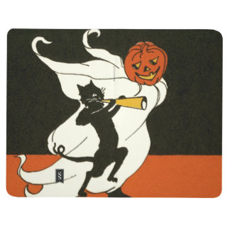 Cuerno del fantasma del gato negro de la linterna cuadernos