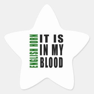 Cuerno inglés está en mi sangre calcomanías forma de estrellas personalizadas