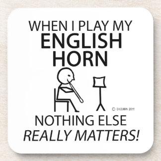 Cuerno inglés nada materias otras posavasos de bebida