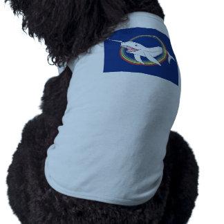 Cuerno lindo Narwhal con el dibujo animado del Camiseta Sin Mangas Para Perro