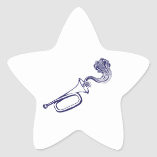 Cuerno Calcomanías Forma De Estrella Personalizadas