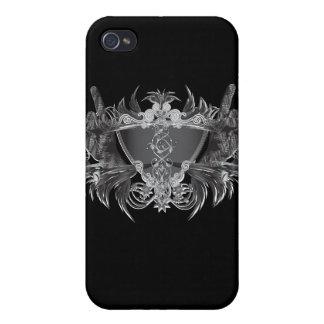 Cuernos de metales pesados iPhone 4/4S carcasas
