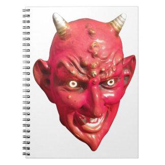 Cuernos del infierno del demonio de Satan del diab Libro De Apuntes Con Espiral