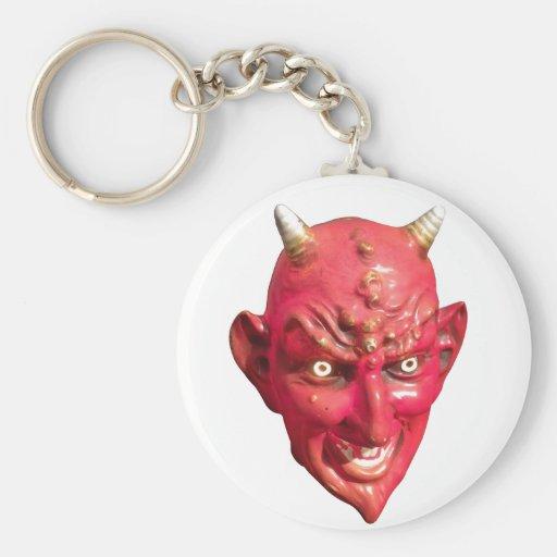Cuernos del infierno del demonio de Satan del diab Llavero