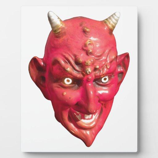 Cuernos del infierno del demonio de Satan del diab Placas Con Fotos