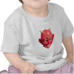 Cuernos del infierno del demonio de Satan del diab Camiseta