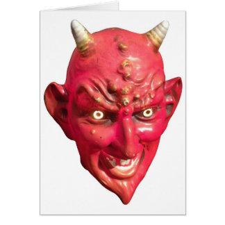 Cuernos del infierno del demonio de Satan del diab Felicitacion