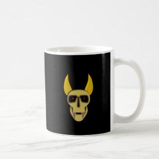 Cuernos demonio cráneo demon skull horns taza de café