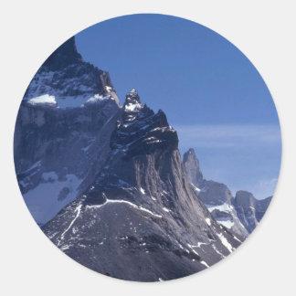 Cuernos Mountains, Patagonia, Argentina Round Stickers