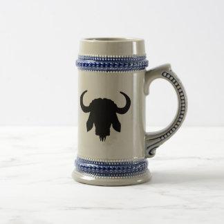 Cuernos principales del búfalo jarra de cerveza