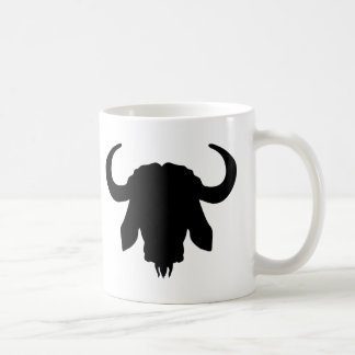 Cuernos principales del búfalo taza básica blanca