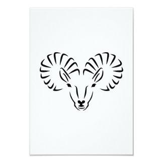 """Cuernos principales del cabra montés invitación 3.5"""" x 5"""""""