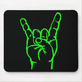 Cuernos verdes Mousepad del metal