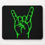 Cuernos verdes Mousepad del metal Alfombrillas De Ratón
