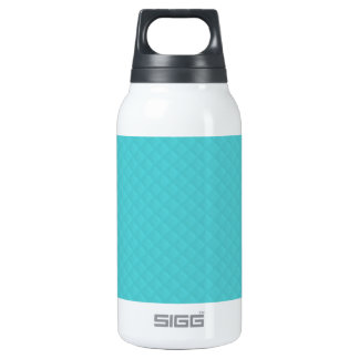 Cuero acolchado aguamarina botella isotérmica de agua