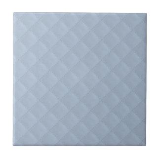Cuero acolchado azules claros teja cerámica