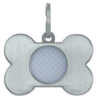 Cuero acolchado azules claros placa de mascota