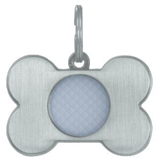 Cuero acolchado azules claros placa mascota