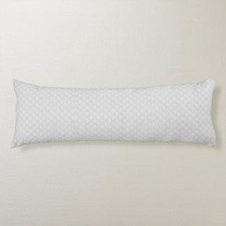 Cuero acolchado blanco almohada