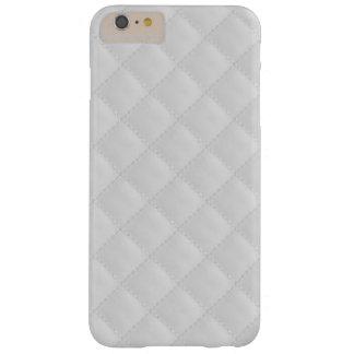 Cuero acolchado blanco funda de iPhone 6 plus barely there