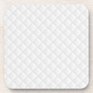 Cuero acolchado blanco posavaso