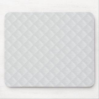 Cuero acolchado blanco alfombrilla de ratón