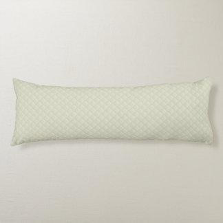 Cuero acolchado crema almohada