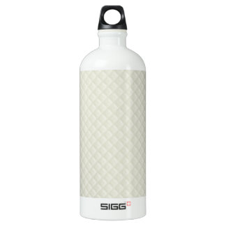 Cuero acolchado crema botella de agua