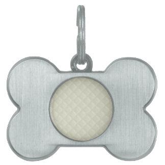 Cuero acolchado crema placas de mascota