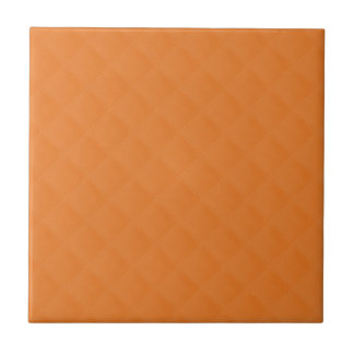 Cuero acolchado naranja azulejo cerámica